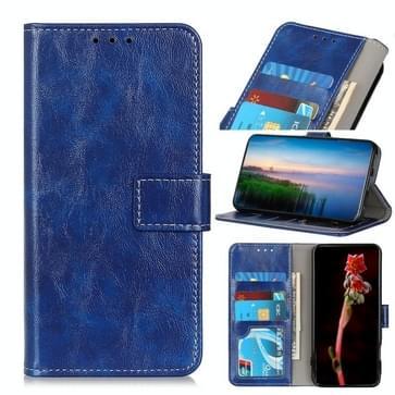 Voor Motorola Moto Edge Retro Crazy Horse Texture Horizontale Flip Lederen Case met Holder & Card Slots & Photo Frame & Wallet(Blauw)