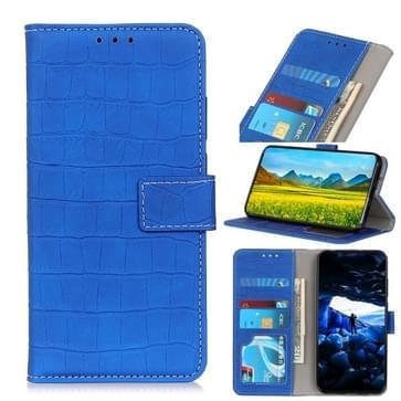 Voor Motorola Moto Edge Crocodile Texture Horizontale Flip Lederen Case met Holder & Card Slots & Wallet(Blauw)