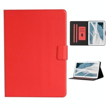 Voor Huawei MediaPad T3 Solid Color Horizontale Flip Lederen case met kaartslots & houder(rood)