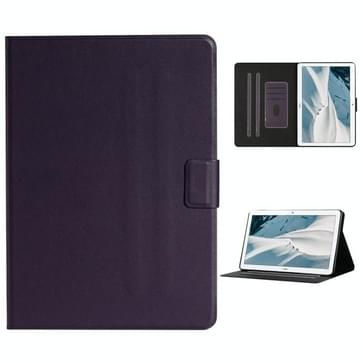 Voor Huawei MediaPad T3 Solid Color Horizontale Flip Lederen case met kaartslots & houder(paars)