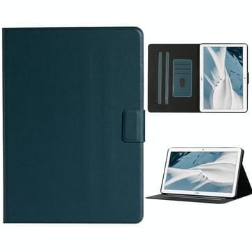Voor Huawei MediaPad T3 Solid Color Horizontale Flip Lederen behuizing met kaartslots & houder(donkergroen)