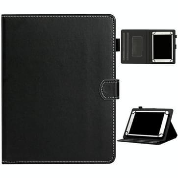 Voor 8 inch Universal Solid Color Horizontale Flip Lederen kast met kaartslots & houder & pensleuf(zwart)