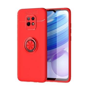 Voor Xiaomi Redmi 10X 5G Lenuo Shockproof TPU Beschermhoes met onzichtbare houder(Rood)