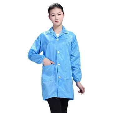 Elektronische fabriek Anti Static Blue Stofvrije kleding Stripe Stofdichte kleding  maat:XL(Blauw)