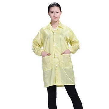 Electronic Factory Anti Static Blue Stofvrije kleding Stripe Stofdichte kleding  maat:XXXXL(Geel)