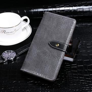 Voor Xiaomi Redmi Note 9 idewei Crocodile Texture Horizontale Flip Lederen Case met Holder & Card Slots & Wallet(Grijs)