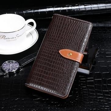 Voor Umidigi S5 Pro idewei Crocodile Texture Horizontale Flip Lederen Case met Holder & Card Slots & Wallet (Donkerbruin)