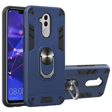 Voor Huawei Mate 20 Lite 2 in 1 Armour Series PC + TPU beschermhoes met ringhouder(Sapphire Blue)