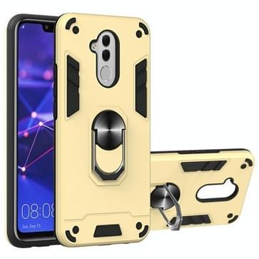 Voor Huawei Mate 20 Lite 2 in 1 Armour Series PC + TPU beschermhoes met ringhouder(goud)