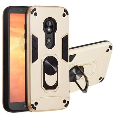Voor Motorola E5 Play / E5 (US Versie) 2 in 1 Armour Series PC + TPU beschermhoes met ringhouder(Goud)
