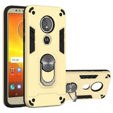 Voor Motorola Moto E5(EU-versie) / G6 Play 2 in 1 Armour Series PC + TPU beschermhoes met ringhouder(Goud)