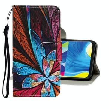 Voor Samsung Galaxy A31 Gekleurd tekenpatroon Horizontaal Flip Lederen hoesje met houder & kaartslots & portemonnee(olieverf)