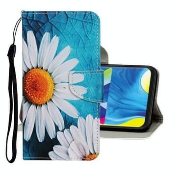 Voor Samsung Galaxy A31 Gekleurd tekenpatroon Horizontaal Flip Lederen hoesje met houder & kaartslots & portemonnee (kamille)