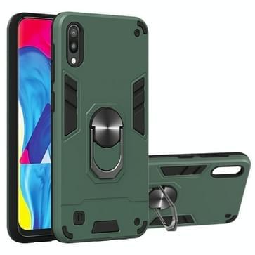 Voor Samsung Galaxy M10 / A10 2 in 1 Armour Series PC + TPU beschermhoes met ringhouder(groen)
