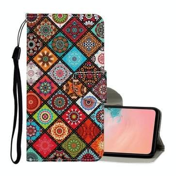 Voor Samsung Galaxy S20 Ultra Gekleurd tekenpatroon Horizontaal Flip Lederen hoesje met Holder & Card Slots & Wallet & Lanyard(Ethnic Style)