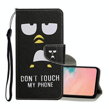 Voor Samsung Galaxy S20 Ultra Gekleurd tekenpatroon Horizontaal Flip Lederen hoesje met Holder & Card Slots & Wallet & Lanyard(Penguin)