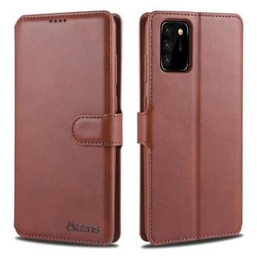 Voor Samsung Galaxy Note 20 AZNS Kalftextuur horizontale flip lederen kast met Holder & Card Slots & Wallet & Photo Frame(Bruin)