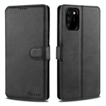 Voor Samsung Galaxy Note 20 AZNS Kalftextuur horizontale flip lederen kast met Holder & Card Slots & Wallet & Photo Frame(Zwart)