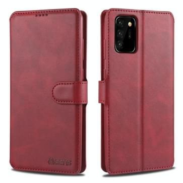 Voor Samsung Galaxy Note 20 AZNS Kalftextuur horizontale flip lederen kast met Holder & Card Slots & Wallet & Photo Frame(Red)