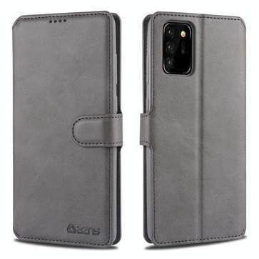 Voor Samsung Galaxy Note20 Ultra AZNS Kalftextuur horizontale flip lederen kast met Holder & Card Slots & Wallet & Photo Frame(Grijs)