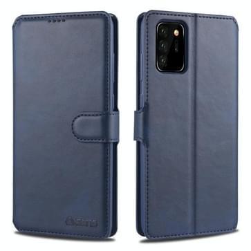 Voor Samsung Galaxy Note20 Ultra AZNS Kalftextuur horizontale flip lederen hoes met Holder & Card Slots & Wallet & Photo Frame(Blauw)