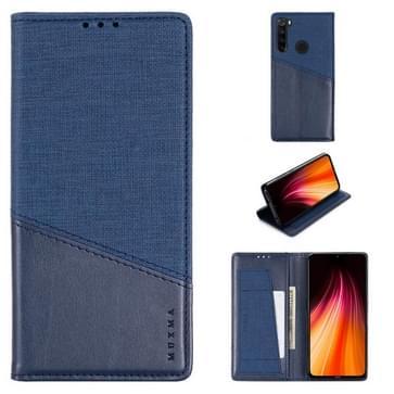 Voor Xiaomi Redmi Note 8T MUXMA MX109 Horizontale Flip Lederen case met Holder & Card Slot & Wallet(Blauw)
