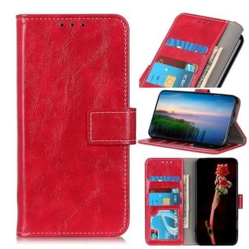 Voor OnePlus Nord Retro Crazy Horse Texture Horizontale Flip Lederen Case met Holder & Card Slots & Photo Frame & Wallet(Red)