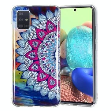 Voor Samsung Galaxy A71 5G Lichtgevende TPU mobiele telefoon beschermhoes (half-bloem)