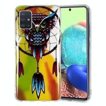 Voor Samsung Galaxy A71 5G Lichtgevende TPU mobiele telefoon beschermhoes (Uil)