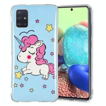 Voor Samsung Galaxy A71 5G Lichtgevende TPU mobiele telefoon beschermhoes (Star Unicorn)