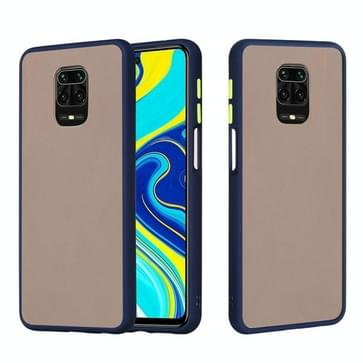 Voor Xiaomi Redmi Note 9S Skin Hand Feeling Series Shockproof Frosted PC+ TPU Protective Case(Blauw)