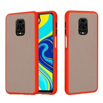 Voor Xiaomi Redmi Note 9S Skin Hand Feeling Series Shockproof Frosted PC+ TPU Protective Case(Red)