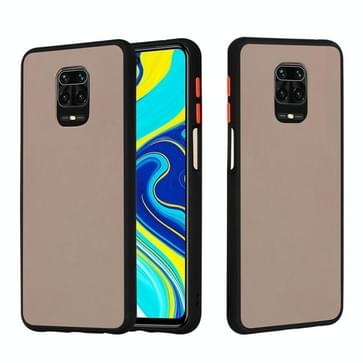Voor Xiaomi Redmi Note 9S Skin Hand Feeling Series Shockproof Frosted PC+ TPU Protective Case(Zwart)