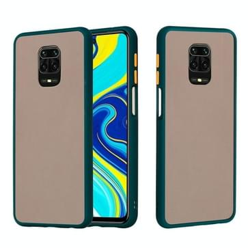 Voor Xiaomi Redmi Note 9S Skin Hand Feeling Series Shockproof Frosted PC+ TPU Protective Case (Donkergroen)