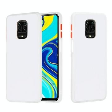 Voor Xiaomi Redmi Note 9S Skin Hand Feeling Series Shockproof Frosted PC+ TPU Protective Case(Wit)