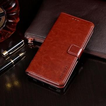 Voor Xiaomi Redmi 9A idewei Crazy Horse Texture Horizontale Flip Lederen Case met Holder & Card Slots & Wallet(Brown)