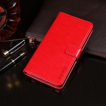 Voor TP-Link Neffos C9s idewei Crazy Horse Texture Horizontale Flip Lederen Kast met Holder & Card Slots & Wallet(Red)
