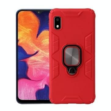 Voor Samsung Galaxy A10e Shockproof TPU Full Coverage Beschermhoes met 360 graden roterende ringhouder(rood)