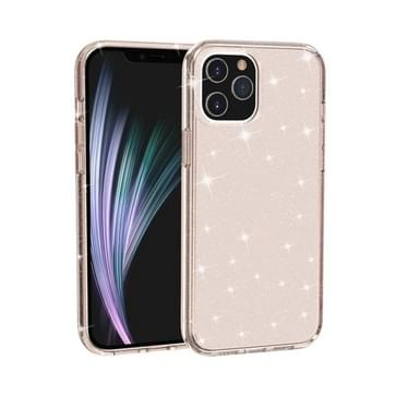 Voor iPhone 12 Pro Max Shockproof Terminator Style Glitter Powder Protective Case(Goud)
