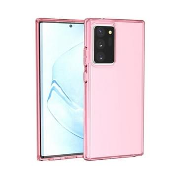 Voor Samsung Galaxy Note20 Ultra Schokbestendige Terminator Style Transparante beschermhoes (roze)