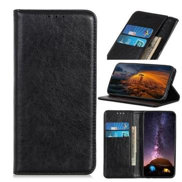Voor UMIDIGI A3X Magnetic Crazy Horse Texture Horizontale Flip Lederen Case met Holder & Card Slots & Wallet(Zwart)