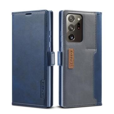 Voor Samsung Galaxy Note 20 LC.IMEEKE LC-001 Series PU + TPU Kleur bijpassende matreerde horizontale flip lederen kast met houder & kaartsleuf(blauw)