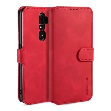 Voor OPPO A5 (2020) / A9 (2020) DG. MING Retro Oil Side Horizontale Flip Leather Case met Holder & Card Solt & Wallet(Red)