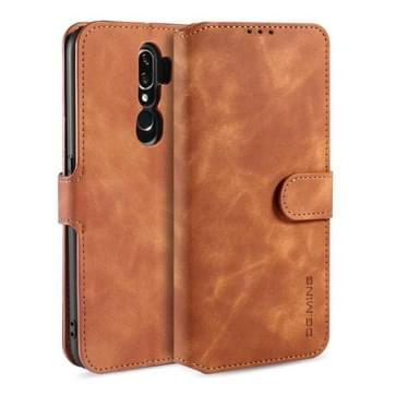 Voor OPPO A5 (2020) / A9 (2020) DG. MING Retro Oil Side Horizontale Flip Leather Case met Holder & Card Solt & Wallet(Brown)