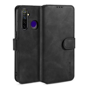 Voor OPPO Realme 5 Pro DG. MING Retro Oil Side Horizontale Flip Leather Case met Holder & Card Solt & Wallet(Zwart)