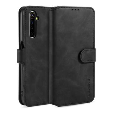Voor OPPO Realme 6 DG. MING Retro Oil Side Horizontale Flip Leather Case met Holder & Card Solt & Wallet(Zwart)