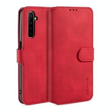 Voor OPPO Realme 6 DG. MING Retro Oil Side Horizontale Flip Leather Case met Holder & Card Solt & Wallet(Red)