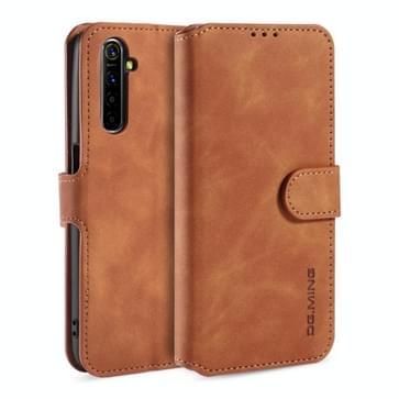 Voor OPPO Realme 6 DG. MING Retro Oil Side Horizontale Flip Leather Case met Holder & Card Solt & Wallet(Brown)