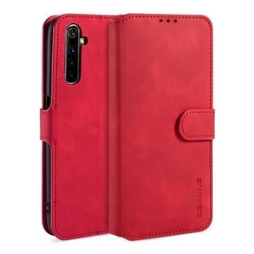 Voor OPPO Realme 6 Pro DG. MING Retro Oil Side Horizontale Flip Leather Case met Holder & Card Solt & Wallet(Red)
