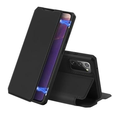 Voor Samsung Galaxy Note20 DUX DUCIS Skin X Series PU + TPU Horizontale Flip Lederen kast met Holder & Card Slots(Zwart)